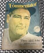 August 1938 Lou Gehrig, The Commentator Magazine Ny Yankees Hard To Find