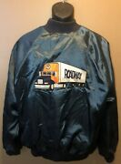 Vintage 80s Roadway Services Trucking Nylon Jacket Xl W/ 10 Business Cards Usa