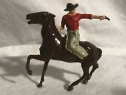 Britains Mounted Western Cowboy On Horse With Revolver Pistol Wild West