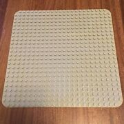 Very Rare Lego Duplo Large Gray Base Plate 24 X 24 Dot -15 X 15 Rounded Corners