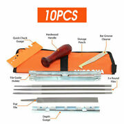 10x Chainsaw Sharpening File Filing Kit Chain Sharpen Saw Files Tool