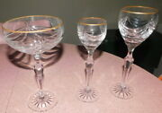Faberge Crystal Glasses Set Of 7 - Various Patterns - All New