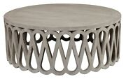 42 W Peter Coffee Table Solid Pine Wood Lisbon White Traditional Detailed Base