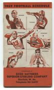 Exide Batteries Football Schedule 1959- Ncaa And Nfl
