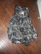 Victoria's Secret Pink Bling Silver Sequin Love Kiss Me Backpack Tote Nwt