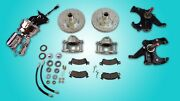 1971-1972 C10 Truck 2.5 Inch Drop Spindle Kit With Chrome Booster Master Pro
