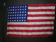 Nice Antique Original 48 Star American Flag Small 17and039and039x11and039and039