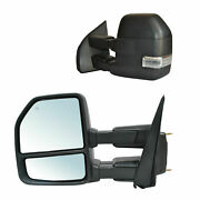 Towing Mirrors For 2015-2020 Ford F150 Power Heated Turn Signal 22 Pin Lh Rh