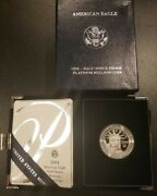 Gem 2004 W 1/2 Oz American Eagle Platinum Proof Coin With Box Case And Coa