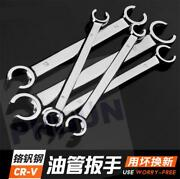 6pcs Metric 6 Point Flare Nut Wrench Set W/wrench Organizer Case 6mm - 19mm
