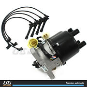 Ignition Distributor Manual Trans W/ Spark Plug Wire Set For 90-91 Acura Integra