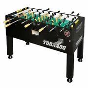 Tornado Platinum Tour Coin Operated Black 1 Man Goalie Foosball Table