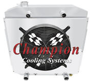 2 Row Rs Radiator W/ 16 Fan And Shroud For 1953 - 1956 Ford Truck Flathead V8
