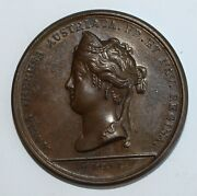 1660 French Louis Xiv Marriage To Marie Therese Medal Copper Medal And Holder