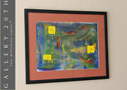 Mid Century Modern Abstract Oil Painting Atomic Ranch Art 50and039s 60and039s Modernist
