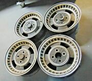 Jensen Healey Roadster Matched Wheel Set Of 4 With Alloy Lugnuts-nice Shape-c2