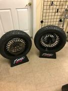 Killer All Black Mammoth Fat Spoke Fatboy 00-05 16andrdquo Front And Rear Wheel Package