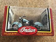 Tootsie Toy 1/10 Scale Green 1942 Indian 442 Motorcycle 2