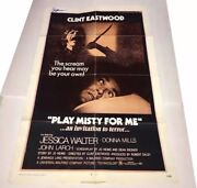 Clint Eastwood Signed Play Misty For Me Poster One Sheet Autograph Jsa Coa Loa