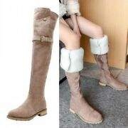 Womenand039s Thick Fleece Lining Cuff Pattern Overknee High Thigh Boots Snow Outwear