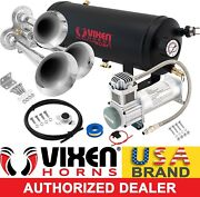 Train Horn Kit For Truck/car/pickup Loud System /1.5g Air Tank/200psi/3 Trumpets