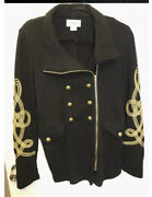 100. New Collection Denim And Supply Black Military Jacket Braided M