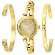 Womenand039s Watch Angel Gold Tone Mop Dial Stainless Steel Bracelet 29331
