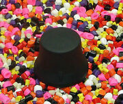 Three Standard Rubber Knobeez Guitar And Bass Knobs / Black
