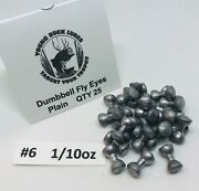 Young Buck Lures Dumbbell Lead Fly Eyes 25 Pack 8 Sizes