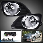 Fit For 10-11 Toyota Camry Clear Lens Fog Lights Bumper Driving Lamp+switch+bulb
