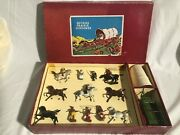 Britains Set 2042 Covered Wagon With Escort Cowboys And American Indian Attack