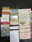 Vintage Lot Of 17 Pkgs Invitations Birth Announcement Baby Shower New Sealed