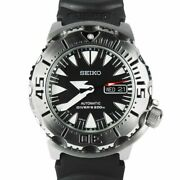 Seiko 2nd Generation Black Monster Automatic Rare Made In Japan Ver Srp307j2