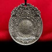Tibet Pure Silver Zodiac Animal Sudoku Eight Diagrams Amulet Necklaces And Pendant