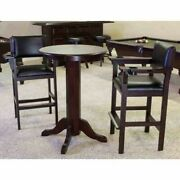 Level Best 30 Inch Pub Table And 2 Billiard Spectator Chairs Set