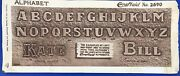 Craftaid Leather Alphabet Template 2690 1954 Carving Unlimited Pattern