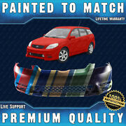 New Painted To Match Front Bumper For 2003 2004 Toyota Matrix Xr Xrs W/ Spoiler