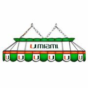 Miami Hurricanes Mvp 40 Stained Glass Pool Table Lamp