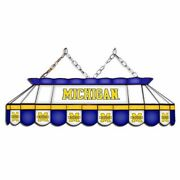 Michigan Wolverines Mvp 40 Stained Glass Pool Table Lamp
