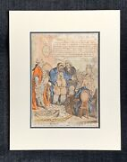 James Gillray Hand Colored Etching Worn Out Patriot 1800 Shakespeare Tavern