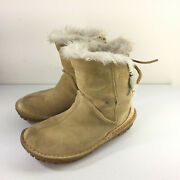 Sorel 6.5 Womenand039s Boots Faux Fur Moc Tan Suede Thinsulate Comfort Winter
