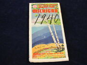 Vintage Official July 15 1940 Michigan Highway State Road Map Near Mint