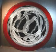 Contemporary Studio Art Glass Footed Charger Signed K. Piper