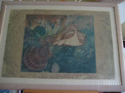 Ocean Tapestry Limited Edition Etching Print 16/150 Signed By Artist Framed