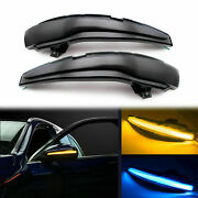 Smoked Side Mirror Led Dynamic Turn Signal Light For Mercedes C E S Glc Class