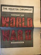 Vintage The Houston Chronicle History Of World War Ii Newspaper Special October
