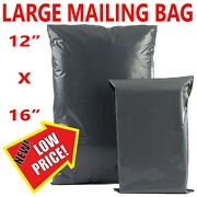 12 X 16 Grey Mailing Bags Strong Parcel Postage Plastic Post Poly Self Seal