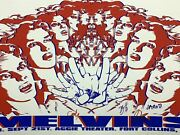 Melvins - 2007 8ball Poster Fort Collins, Co Aggie Theatre Band Signed