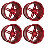 20 Rohana Rfx15 Red 20x10.5 20x11 Forged Concave Wheels Rims Fits Nissan Gt-r