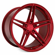 20 Rohana Rfx15 Red 20x9 20x10 Forged Concave Wheels Rims Fits Ford Mustang